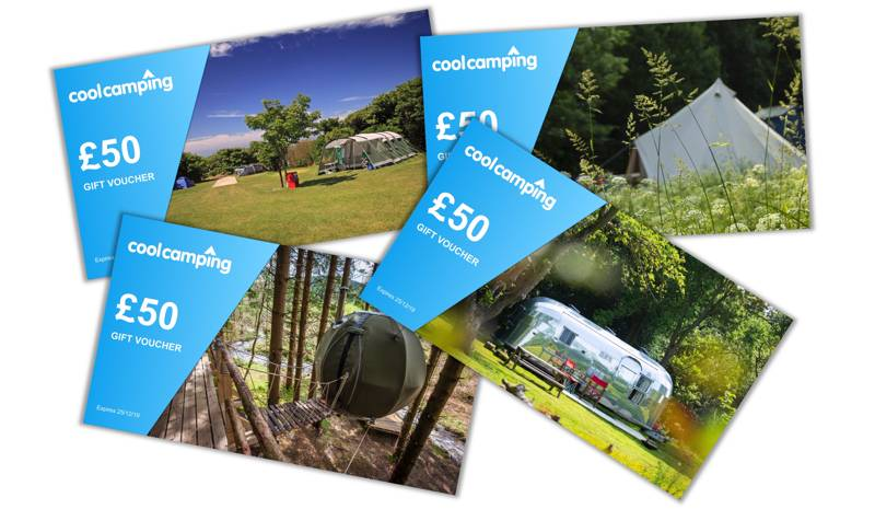 Win £50 of gift vouchers when you book with Cool Camping