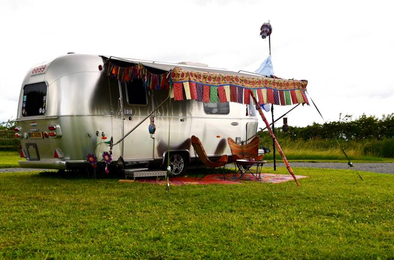 Awesome retro airstream glamping at Ettie's Field.