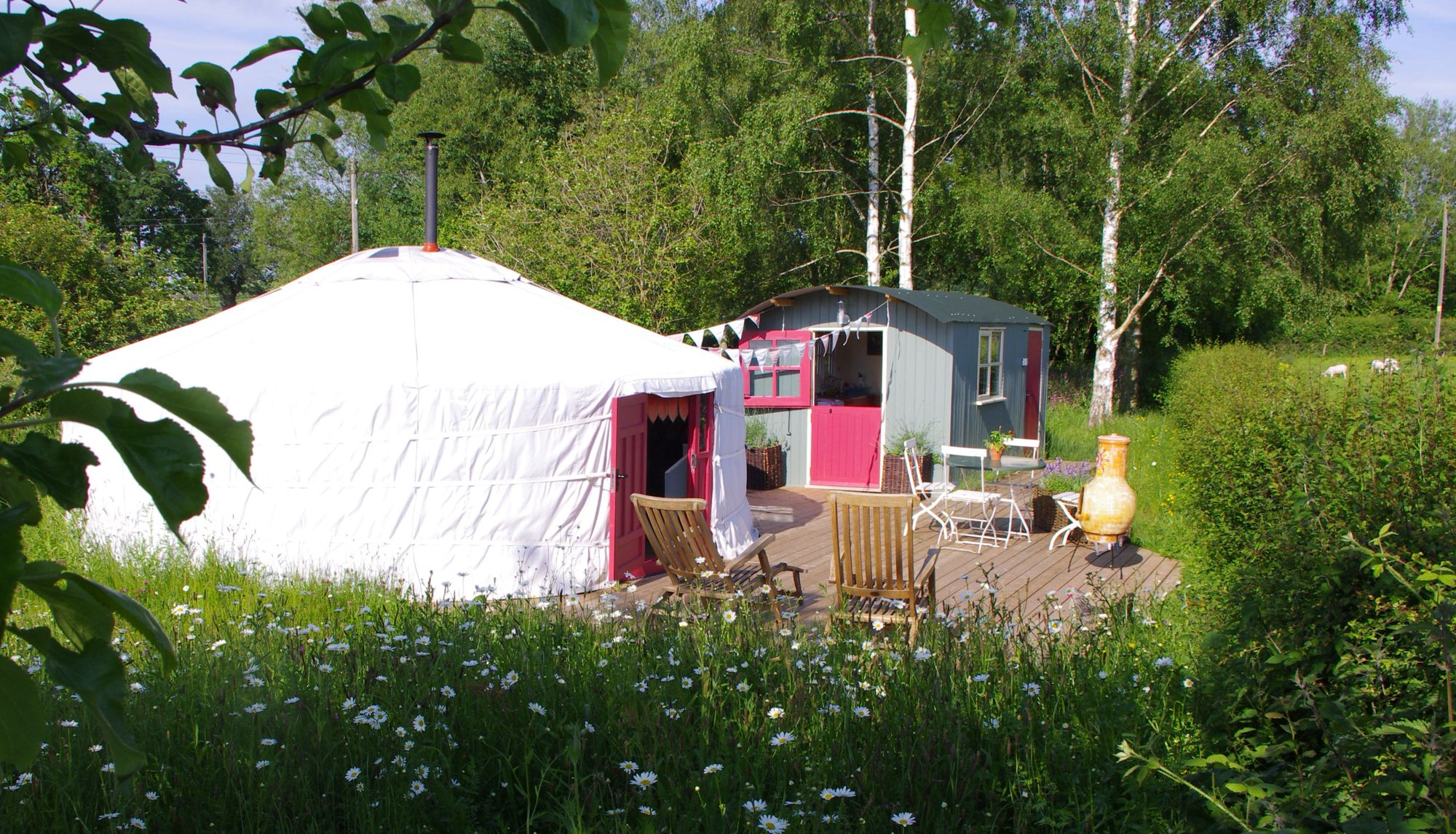 There's luxury camping and then there's The Yurt at Midland Farm.
