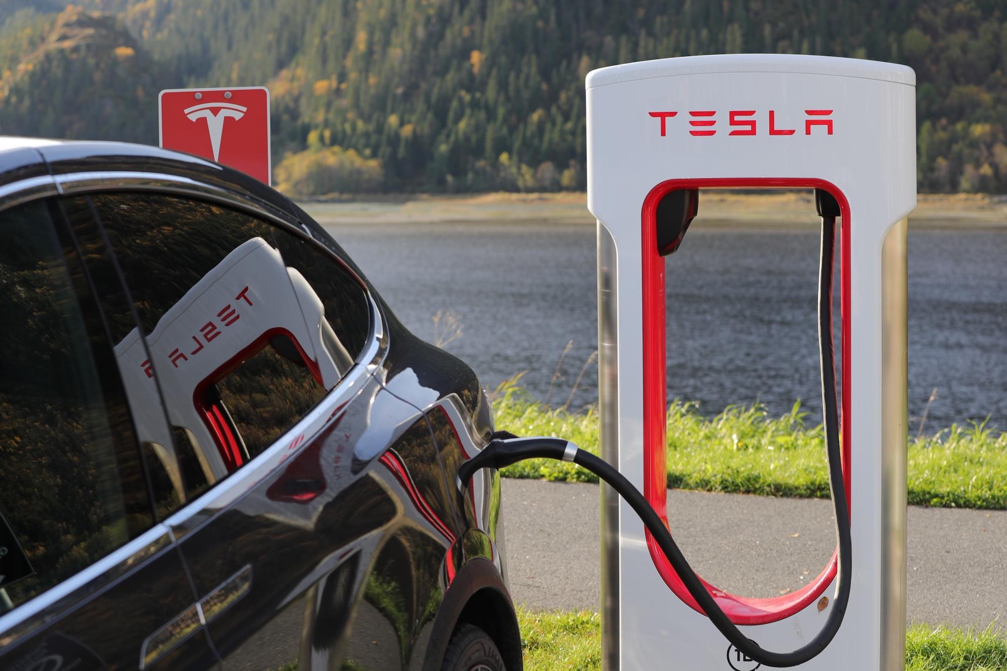 Tesla on charge