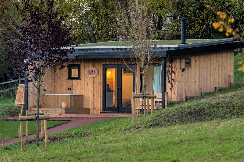Cedar cabin on the edge of the Forest of Dean