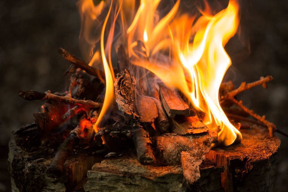 Glamping with campfires