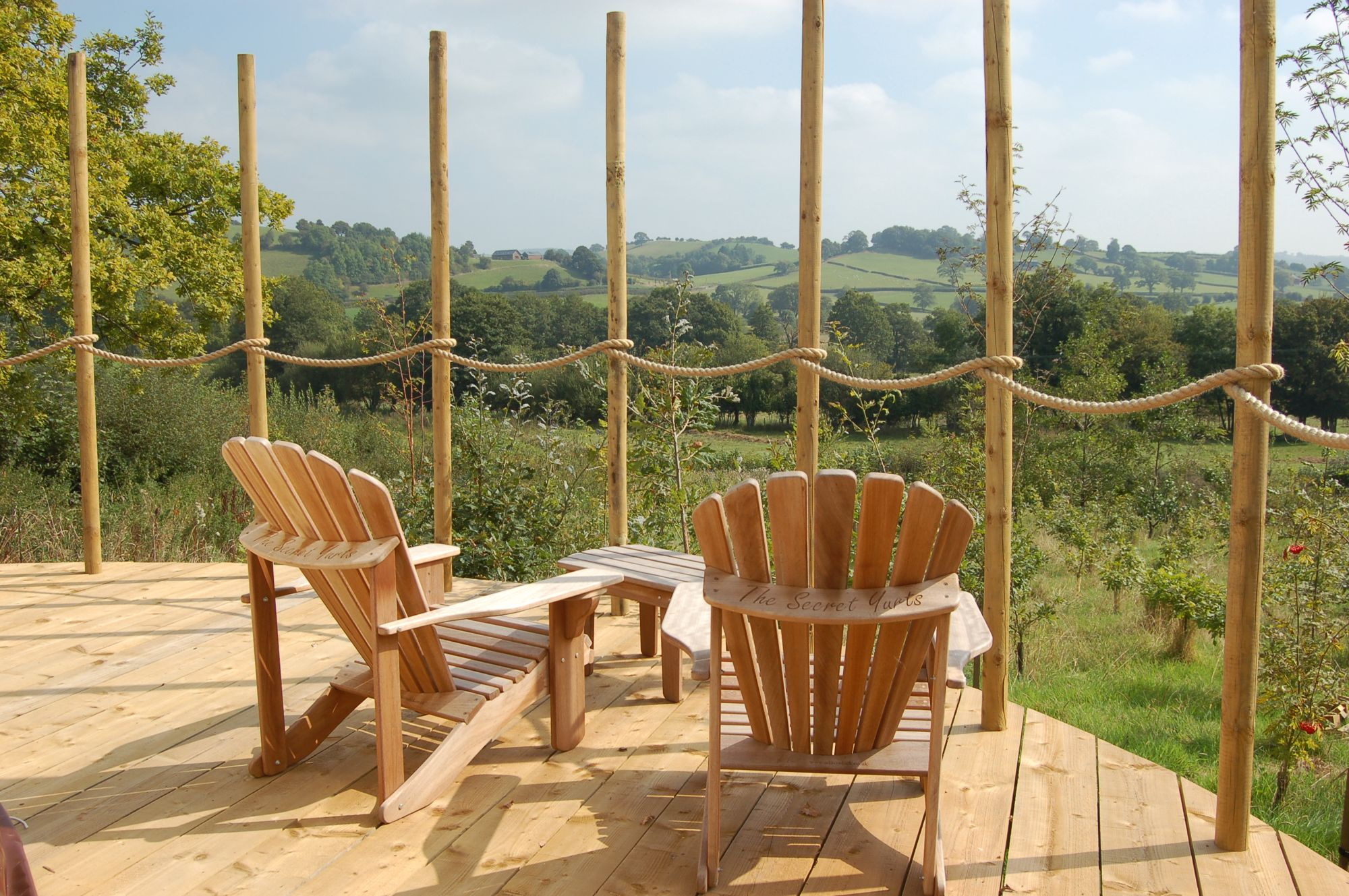 Three luxury yurts tucked down quiet country lanes in mid-Wales, with hot tubs, a sauna and the utmost privacy.