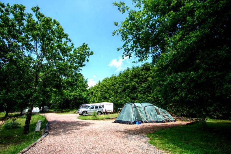 Hard standing caravan or tent pitch