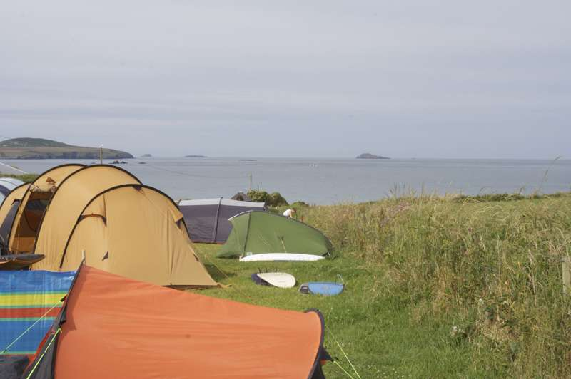 Whitesands Camping Tan-y-Bryn, Whitesands, St Davids, Pembrokeshire SA62 6PS