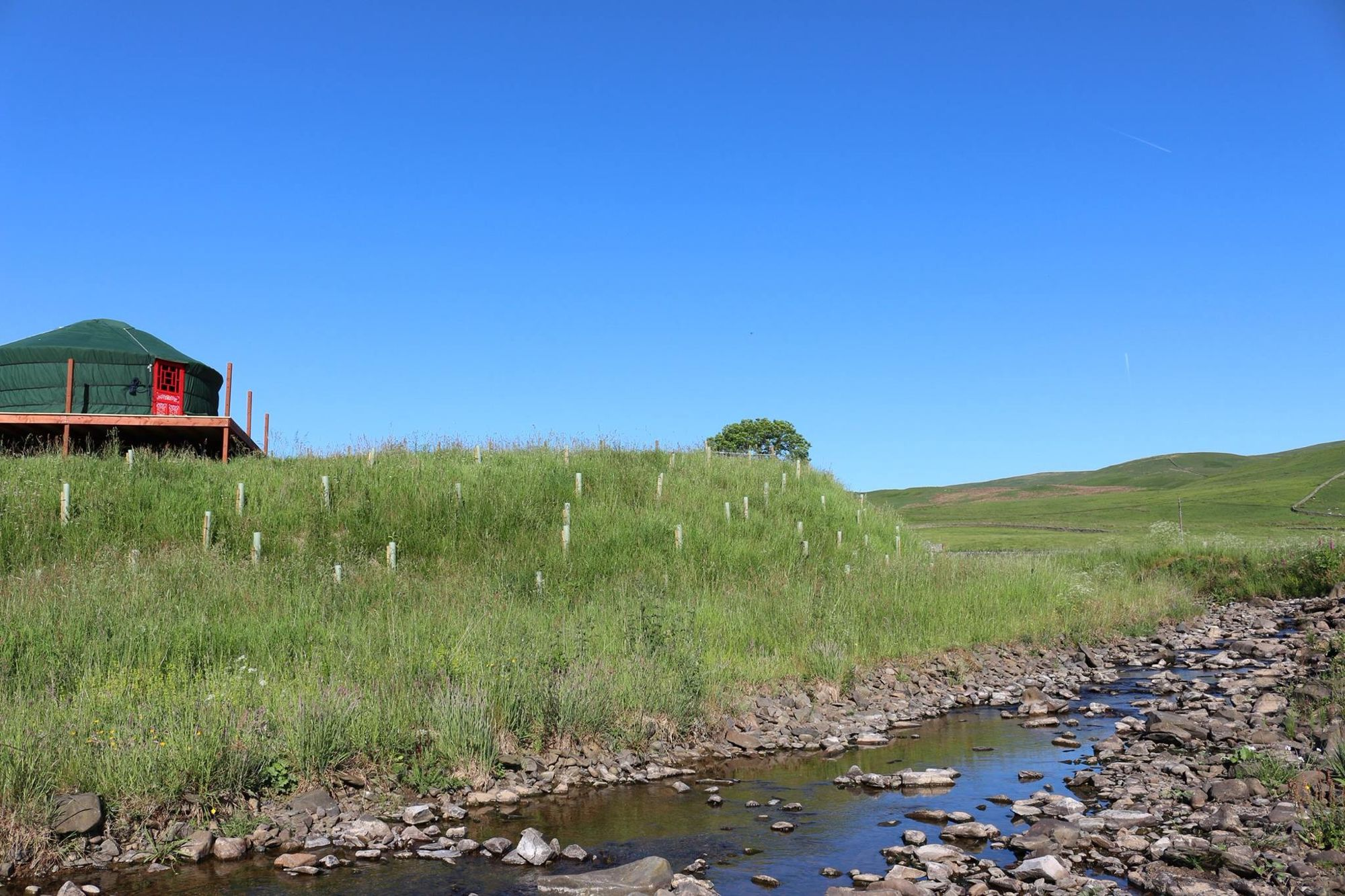Beautiful yurts on the Scottish Borders matched by stunning scenery all around.