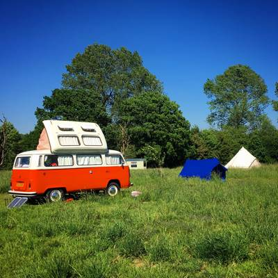 Small Camper Van Pitch at Wardley Hill Campsite - Cool Camping