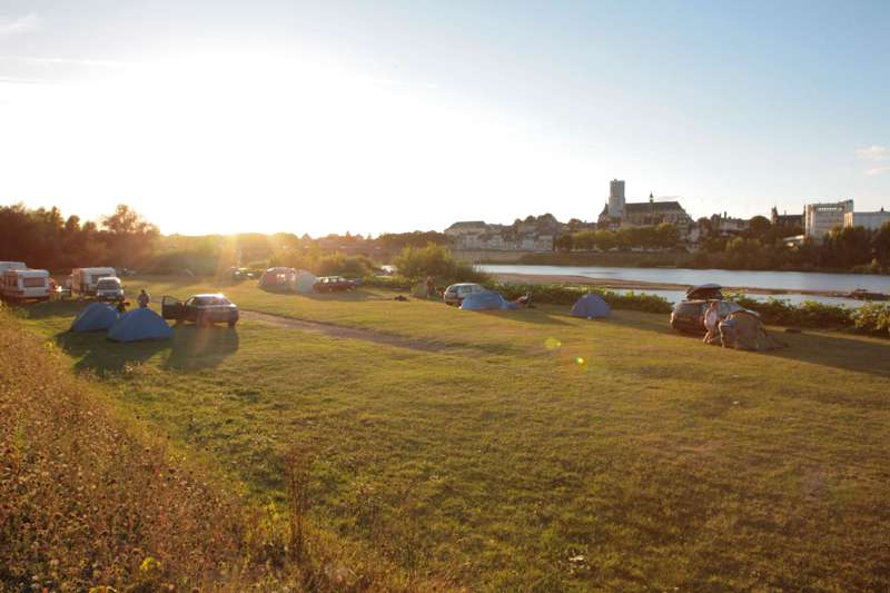 Camping de Nevers on the banks of the Loire in Nevers.