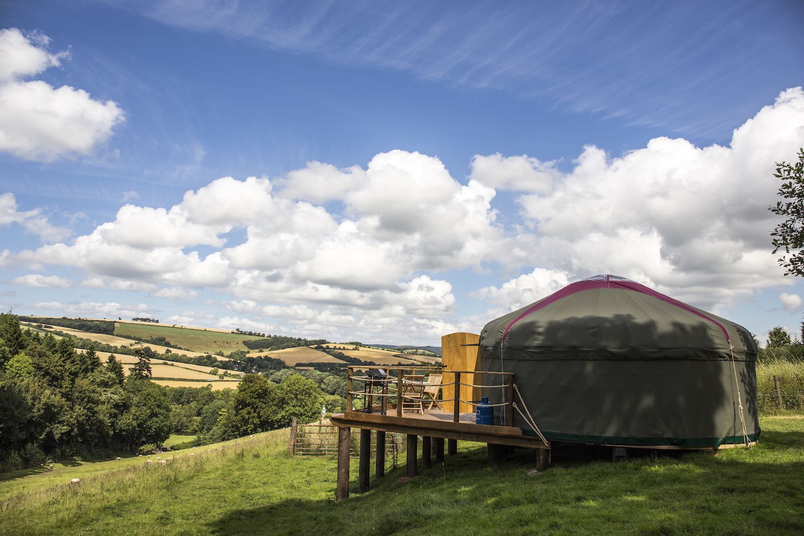 Campsites in Shropshire holidays at Cool Places
