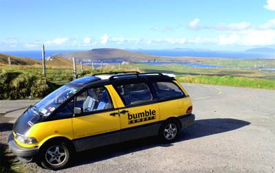 2-seater 2-sleeper Bumble Bus campervan