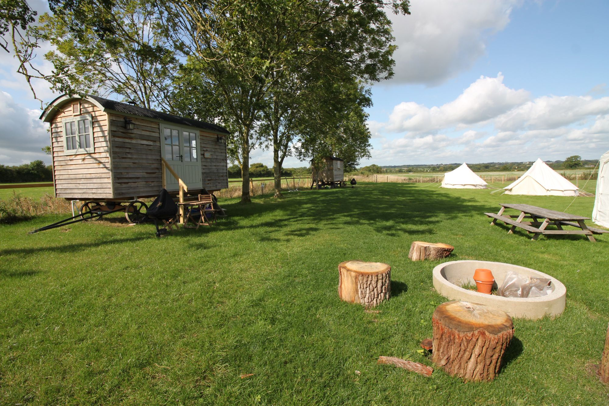 Glamping in the Wessex Downs Area of Outstanding Natural Beauty