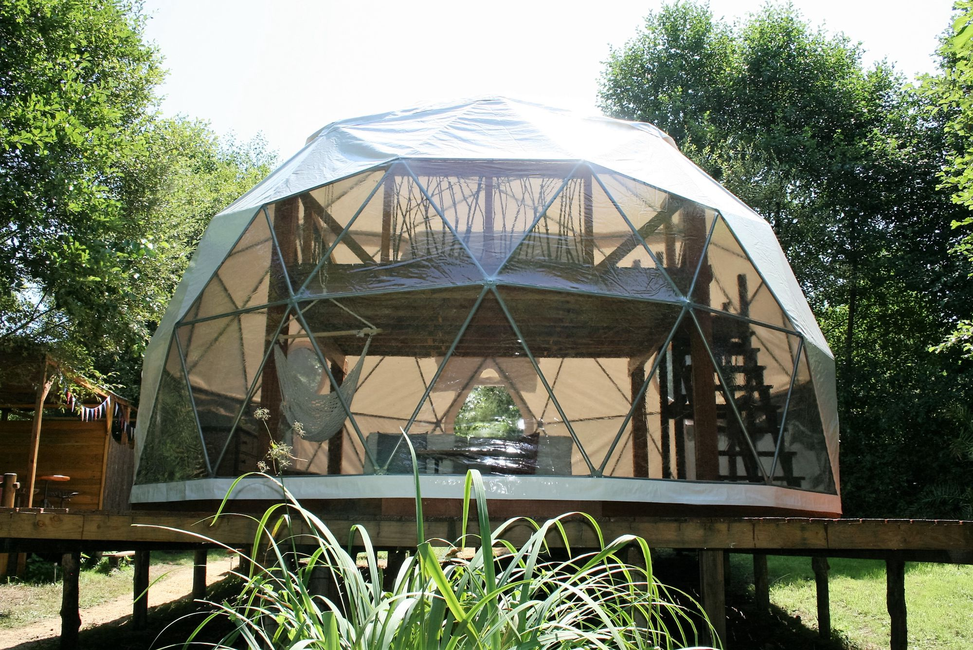 Limousin Glamping: A luxury dome right on the banks of the River Boucheuse with a supreme set-up for star-gazing and beautiful scenery to boot.