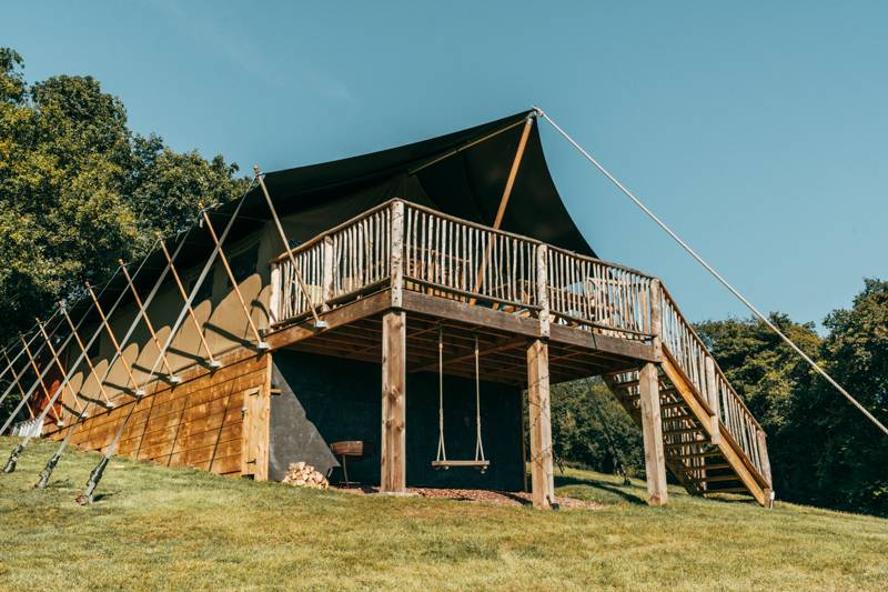 Luxury safari lodge deep in the Devon countryside