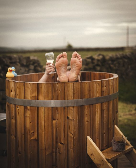 Luxury camping with hot tubs