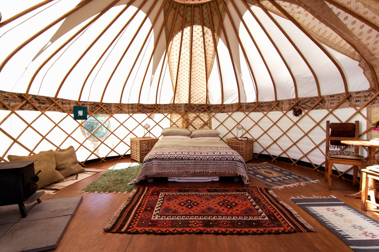 Inside Gilliflower Yurt