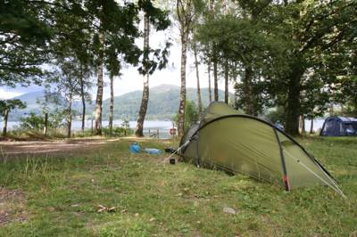Low Wray National Trust campsite sits on the quieter western shore of Lake Windermere.