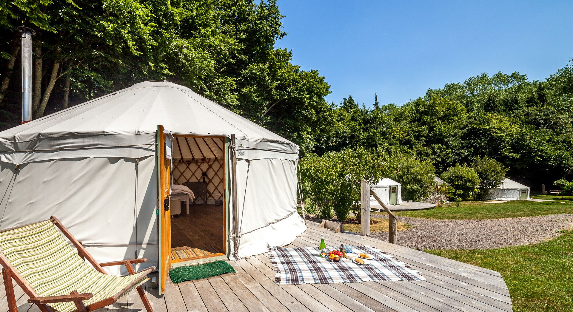Tucked away at the foot of a medieval castle site, and surrounded by Somerset's rolling countryside, The Yurt Retreat is all about one thing - tranquility.