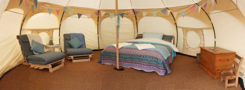 Willow Glamping tent.