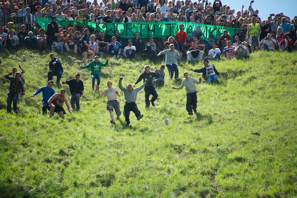 Cooper's Hill Cheese Rolling