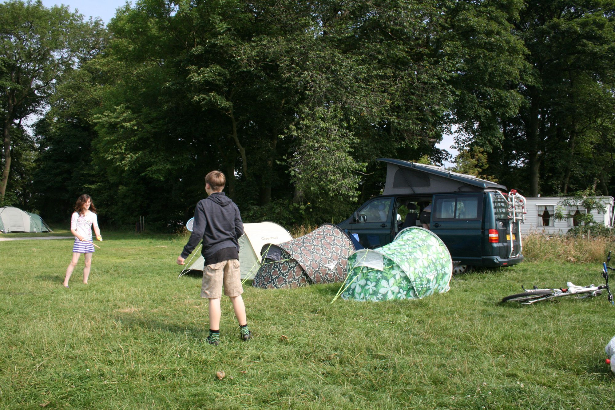 With plenty of room for the kids to roam, this back-to-basics camping on a family-only field has great views thrown in.