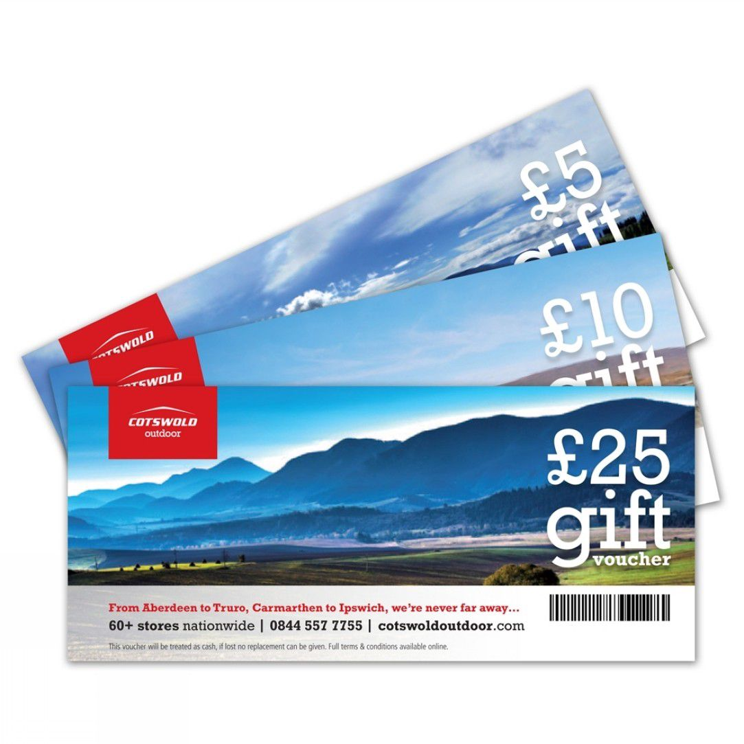 £100 Cotswold Outdoor Vouchers to be won