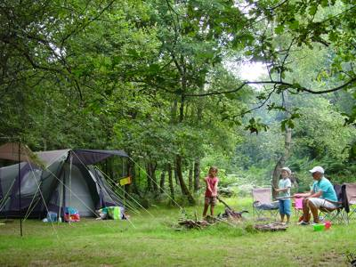 Laid-back camping in the green and pleasant land of Limousin, France