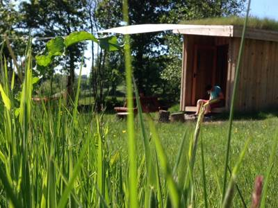 Glamping in Ceredigion: A tiny, year-round eco-glamping site, 3 miles from the beaches of Cardigan Bay in Wales.