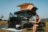 Waffle the LandyCamper: Defender 90 Rooftent