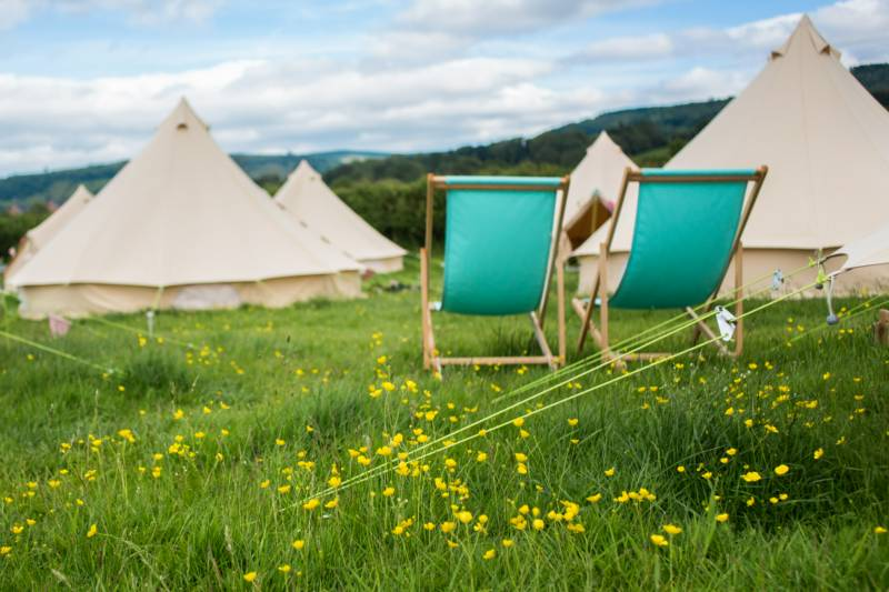 Glamping Wales, Hay on Wye, Brecon Beacons National Park.