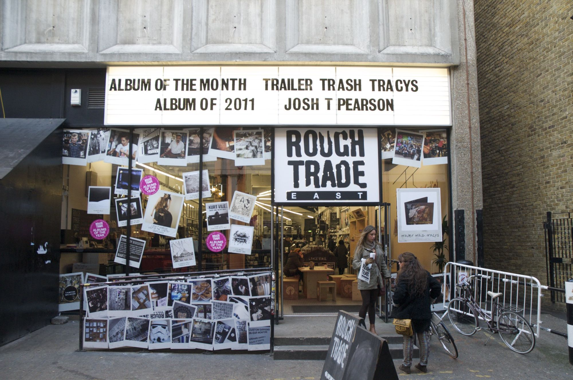 Rough Trade close holiday gallery next holiday image previous holiday image Rough Trade Old Truman Brewery, 91 Brick Lane, Spitalfields, London E1 6QL Website Located just off Brick Lane, the independent Rough Trade music store is a haven for ...