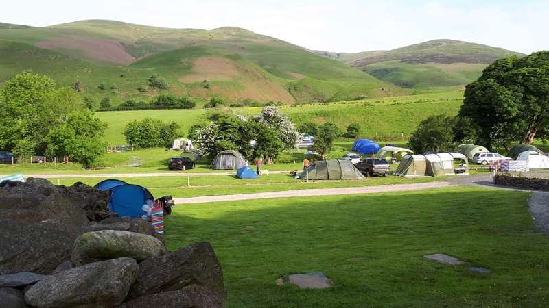 Caravan or Motorhome pitch with electric