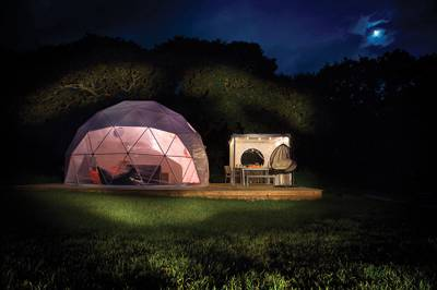 Domes may look futuristic but they offer a quirky, stylish stay and plenty of light and views of the great outdoors.
