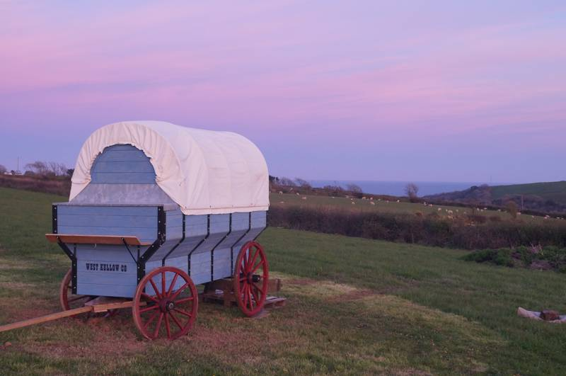 It's not all yurts, there's a gypsy wagon at West Kellow Yurts too.