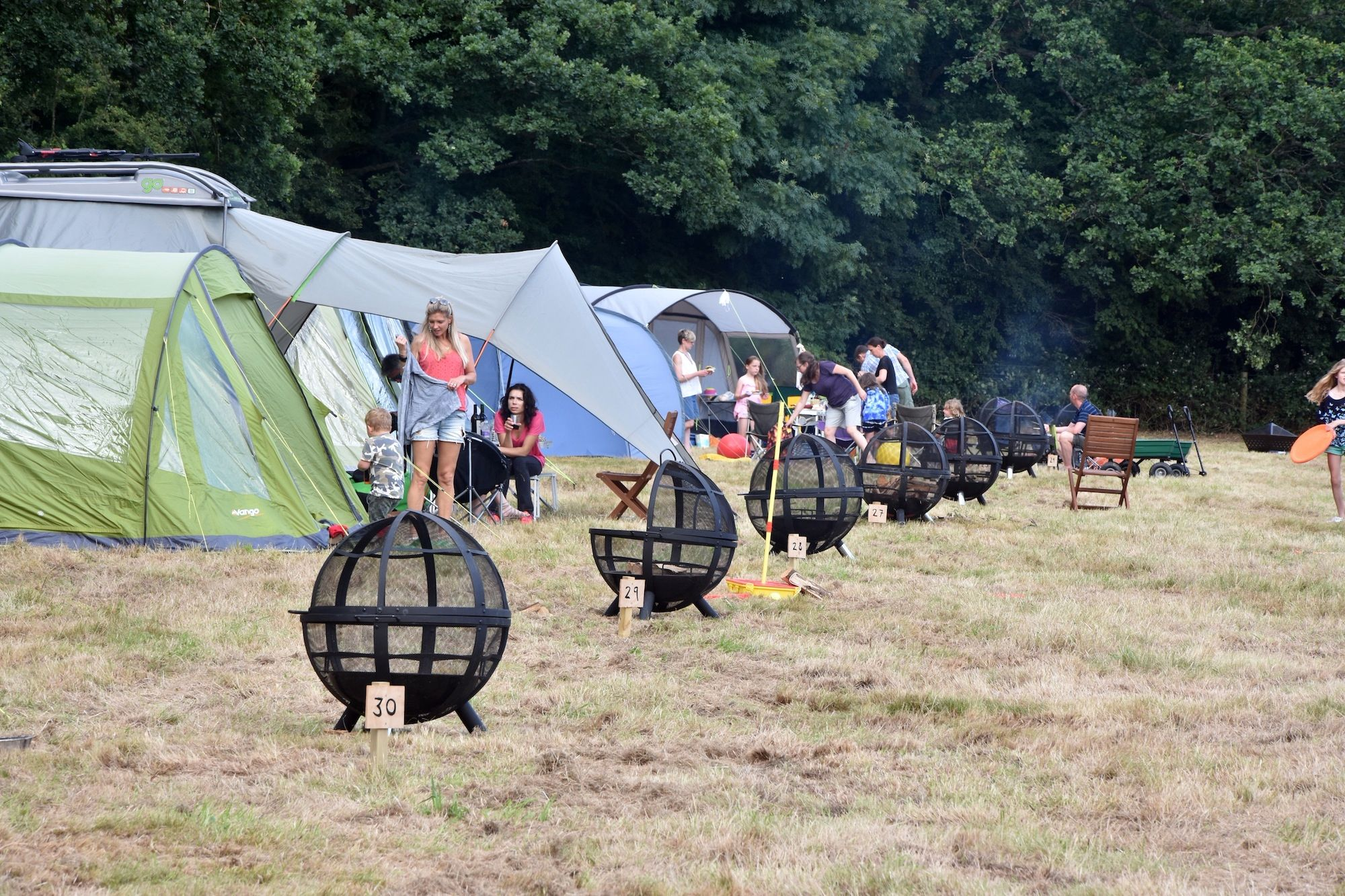 Beautifully located campsite on a National Trust property in the heart of the Surrey Hills.