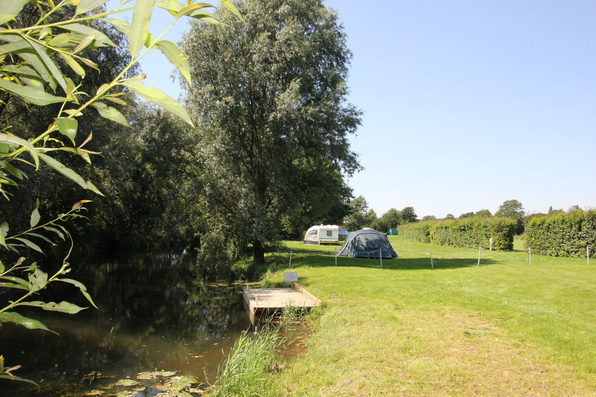 Riverside camping in Constable's countryside, right in the heart of Suffolk's Dedham Vale.
