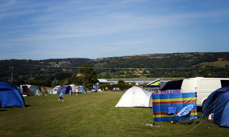 Campsites in the Mendip Hills Area of Outstanding Natural Beauty