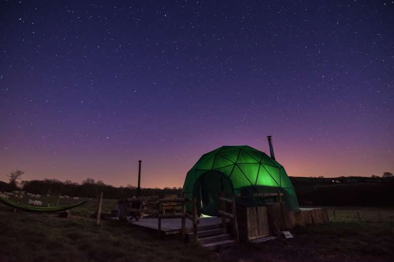 Cosy Under Canvas – dome camping deep in the heart of the Welsh/English borders