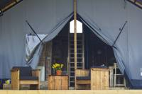Safari tent with views over the beautiful Tywi valley