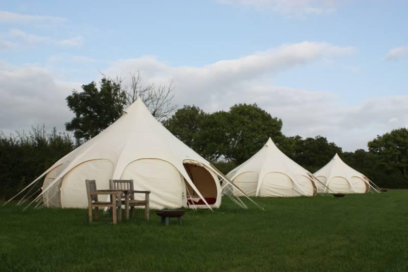 Hazel Glamping tent.