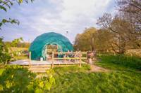 Hazel – Stylish eco-friendly deluxe geo-domes with gorgeous Welsh woodland views