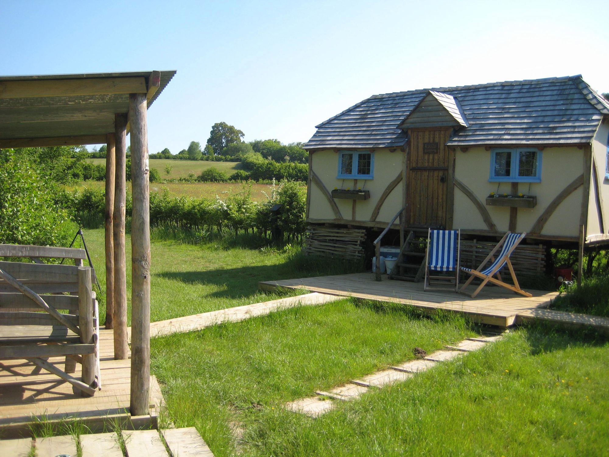 Fairytale glamping cottages on a gorgeous 40 acre Wealden farm.