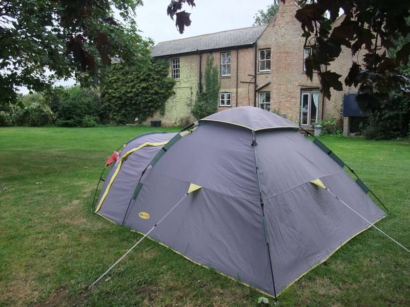 Camping in your back garden