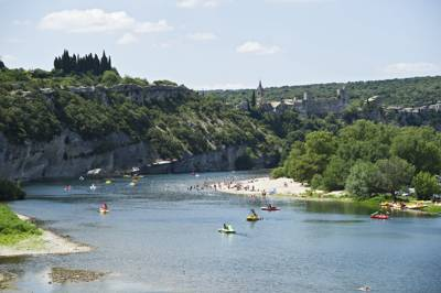 Family camping and glamping in perhaps the most sought-after location on the River Ardèche.