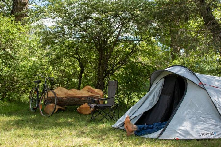 Camping La Cabane, Haute-Alpes, France.