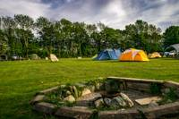 Grass Tent Camping Pitch