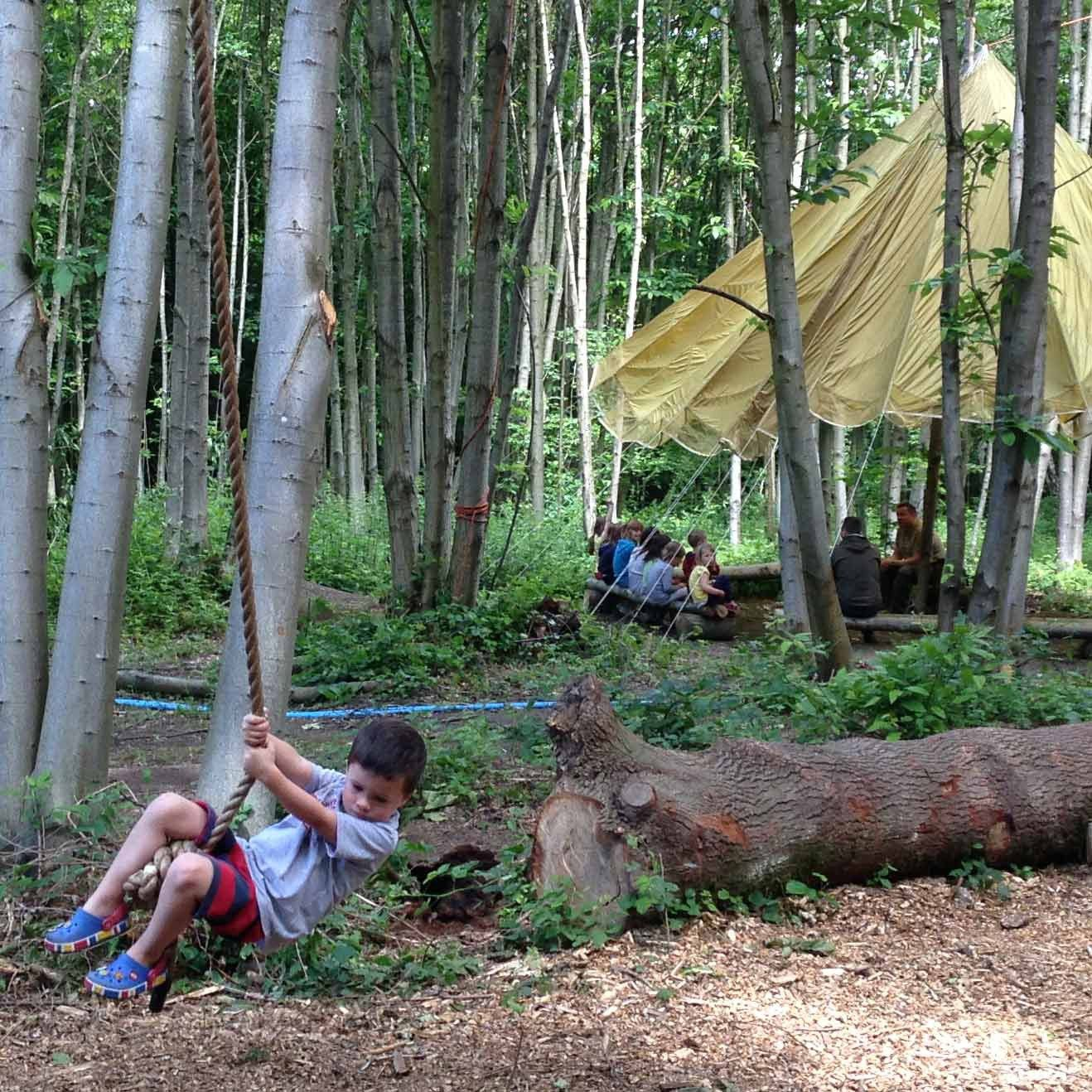 An immersive camping experience in the beautiful natural setting of an ancient woodland.