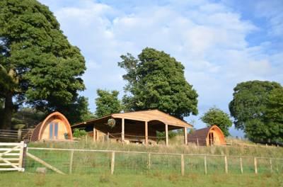 Powys Pods Grug Farm, Bryngwyn, Kington, Powys. HR5 3QN