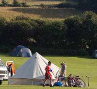 Family camping pitch