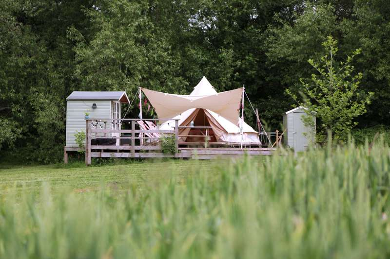 Wye Glamping Bodawen, The Old Estate Yard, Felindre, Brecon, Powys, LD3 0SU