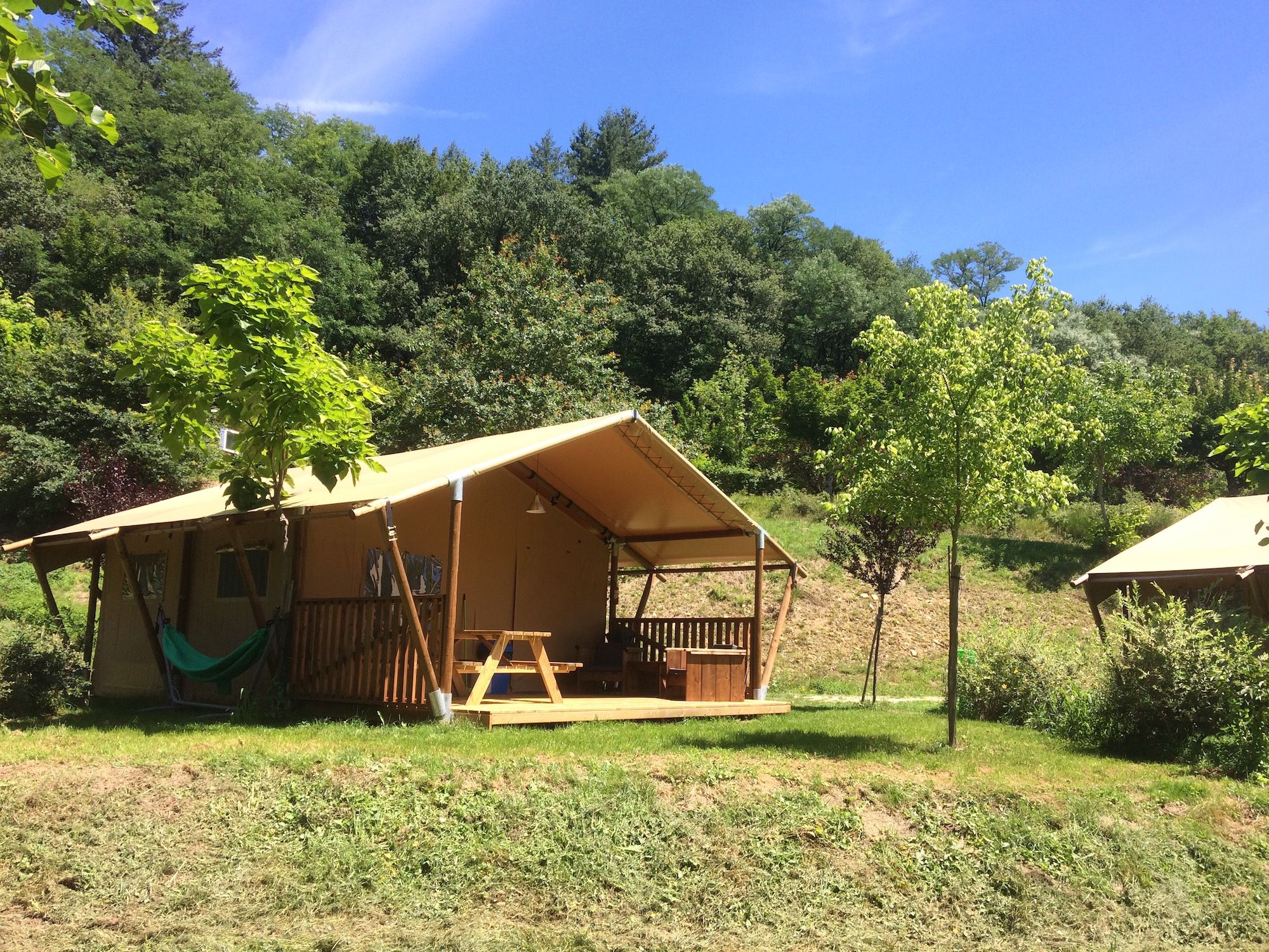 Safari tents in France